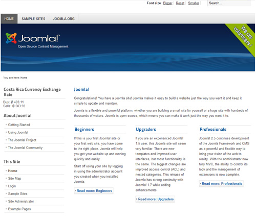 Joomla module screenshot