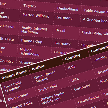 Awesome css table designs artdecoded for Cool table css